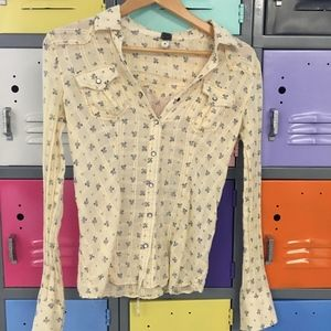 Free People, We the Free Blouse, Size XS